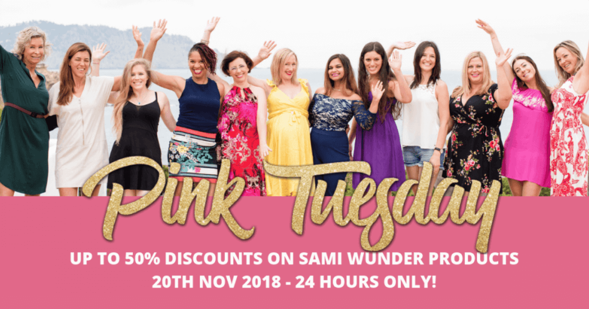 pink tuesday sami wunder discounts